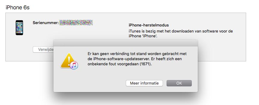 iTunes foutmelding 1