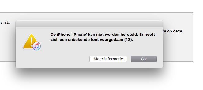 ITunes fout 2