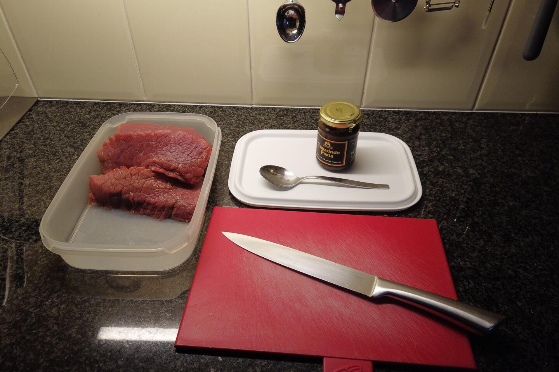 rundvlees aan hapklare stukken